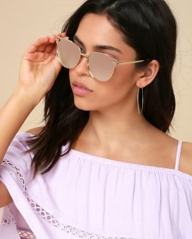 Shine So Bright Pink Mirrored Sunglasses