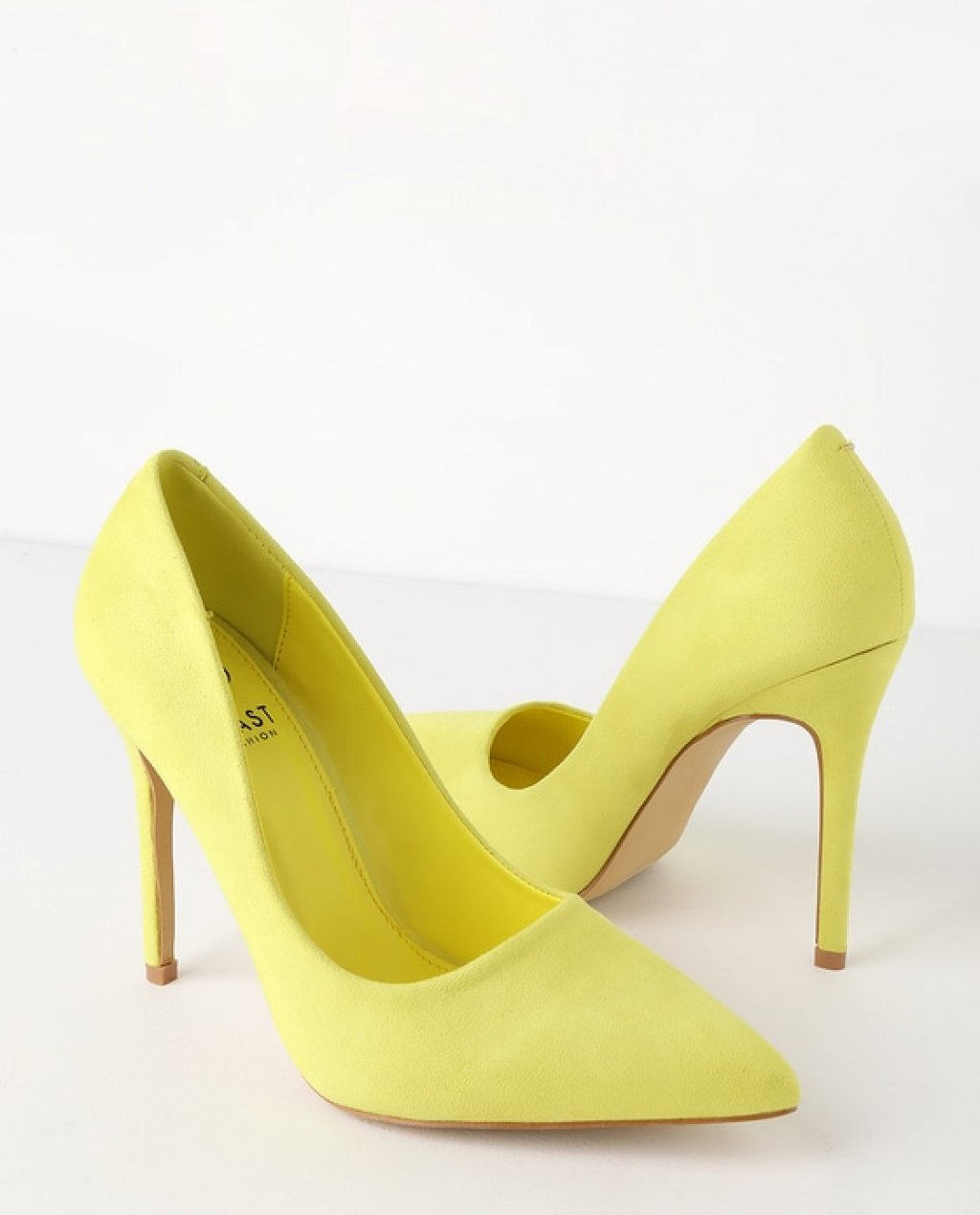 Simona Yellow Suede Pointed Toe Pumps