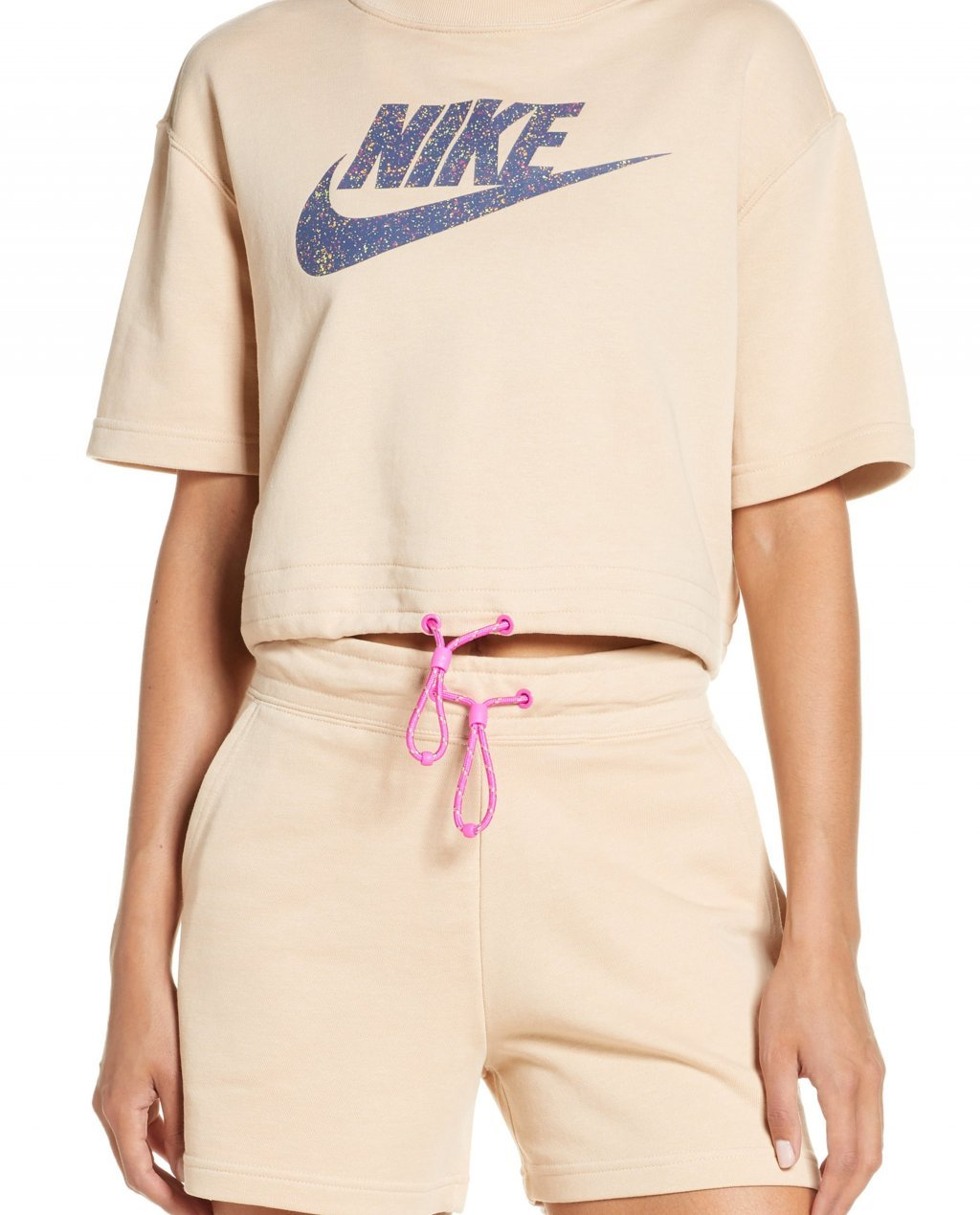 Sportswear Icon Clash Crop Graphic Tee