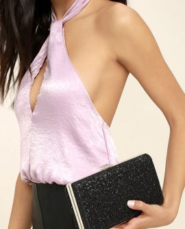 Star-Studded Black Clutch