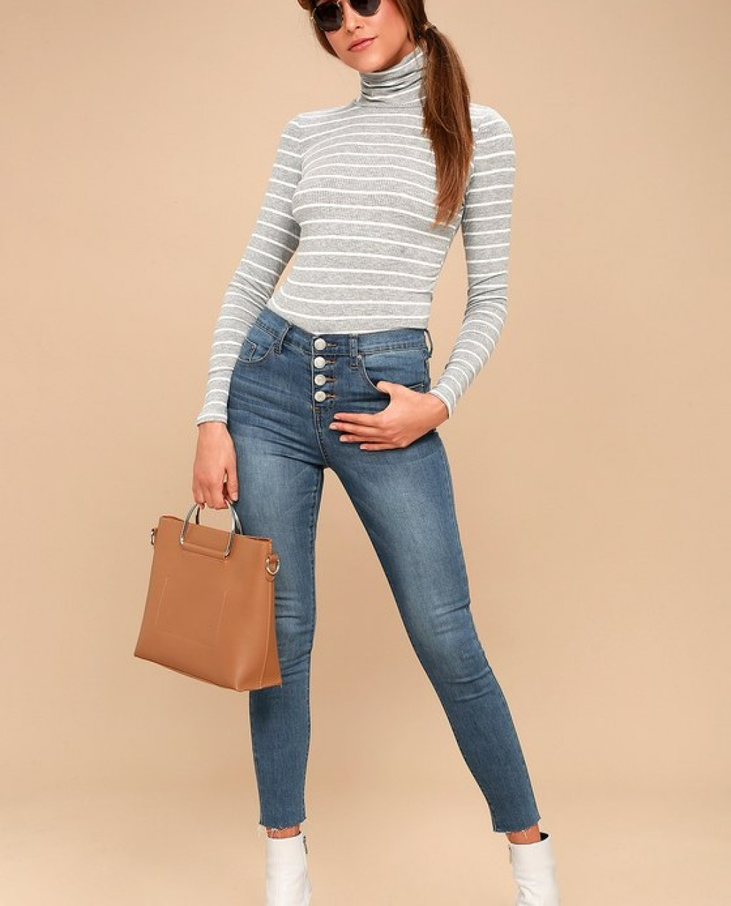 Started at the Bottoms Medium Wash High-Waisted Skinny Jeans