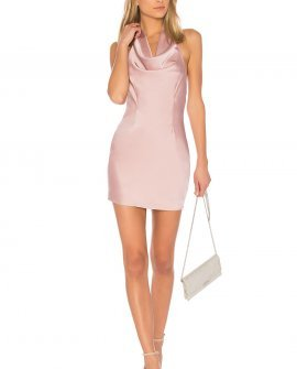 Stella Drape Satin Mini Dress