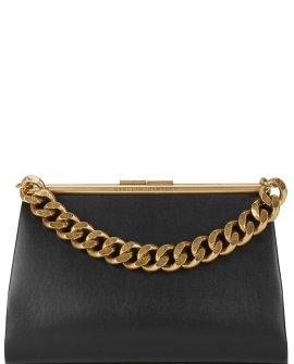 Stella McCartney Medium black faux leather shoulder bag
