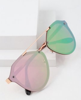 Stun in the Sun Rose Gold and Pink Mirrored Sunglasses