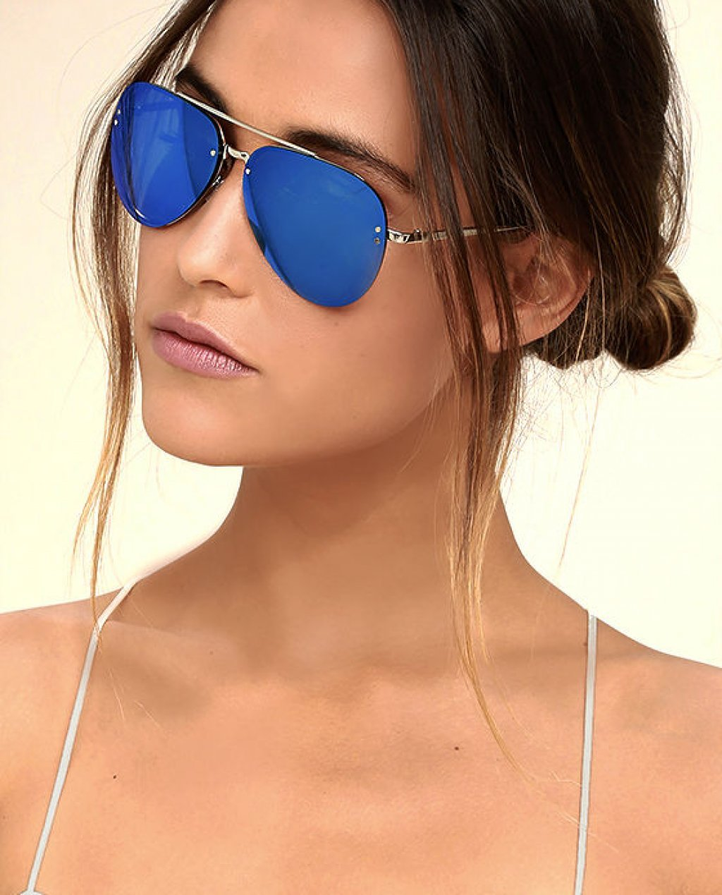 Style Radar Blue Mirrored Aviator Sunglasses