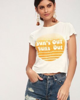 Sun Your Buns White Tee