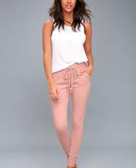 Sunny Blush Pink Skinny Sweatpants