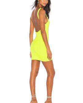 Superdown Kourtney Backless Mini Dress in Green.