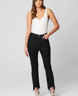 Sustainable Madison Crop Hi Rise Jean With Unfinished Hem