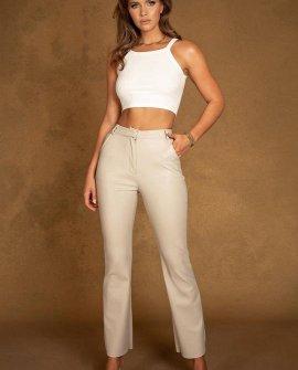 TYRA Wide Leg Faux Leather Pants