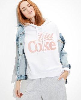 Tailgate Women's Diet Coke Cropped Fleece Hoodie