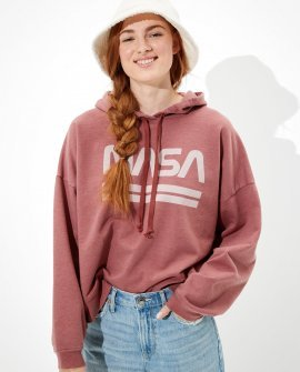 Tailgate Women's NASA Cropped Fleece Hoodie
