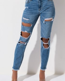 Take Me Out Mid Rise Stretchy Skinny Denim