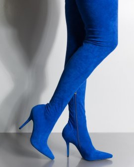 Taking You Out Thigh High Sexy Heel Suede Boot