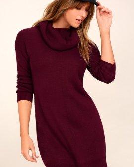 Tea Reader Burgundy Sweater Dress