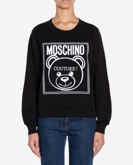 Teddy Label Cotton Sweatshirt