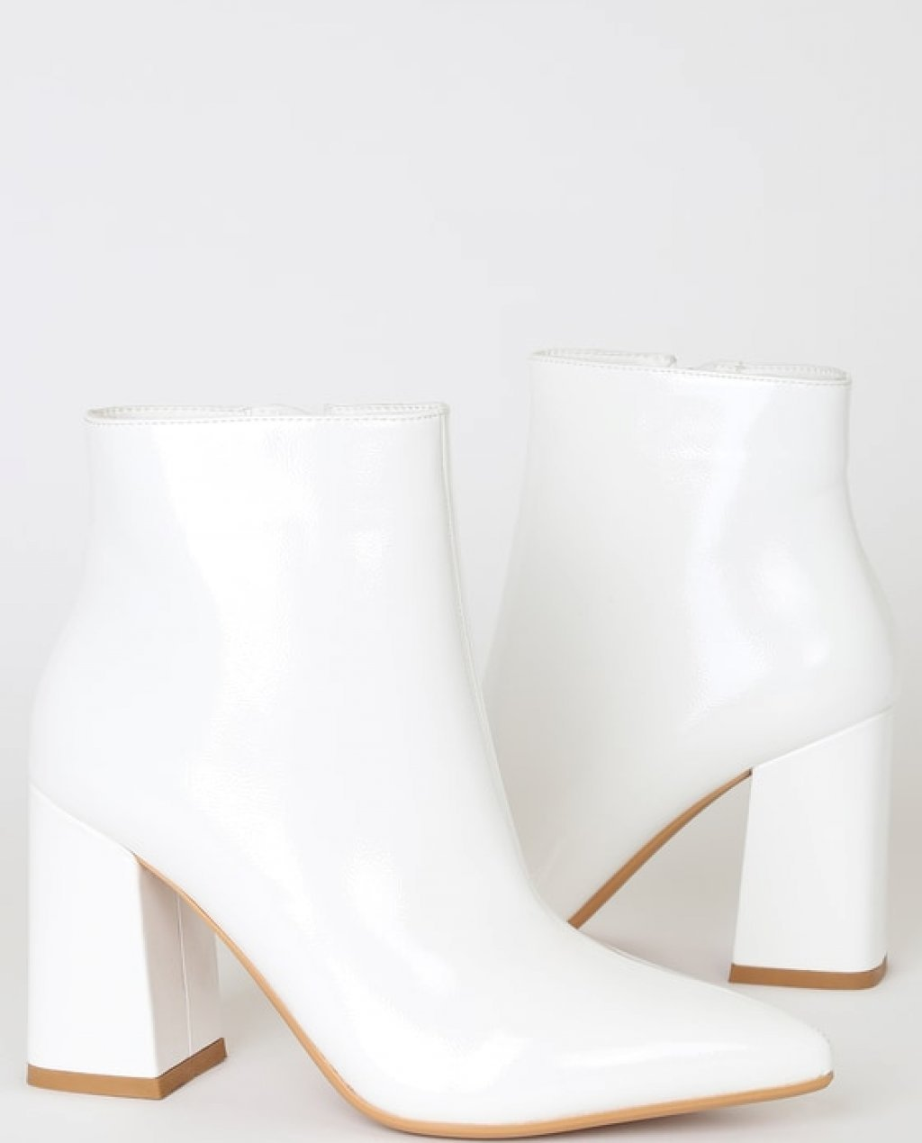 Patent Pointed-Toe Booties Online