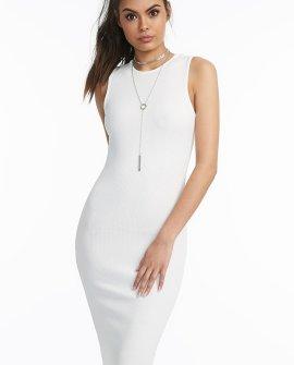 Textured Sleeveless Midi Dress