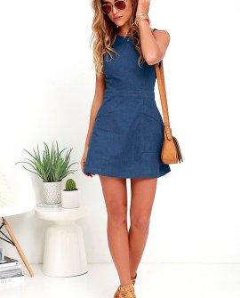 That's Jean-ius Blue Chambray Dress