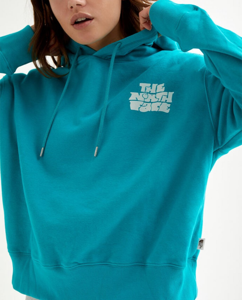 The North Face Logo Haze Crop Hoodie