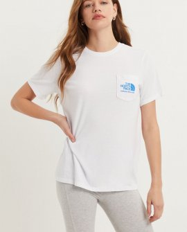 The North Face White Tri-Blend Pocket T-Shirt