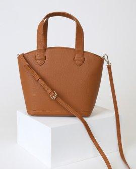 Thea Cognac Bowler Bag