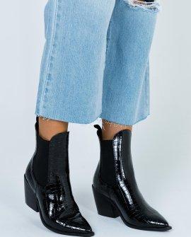 Therapy Josette Black Croc Boots