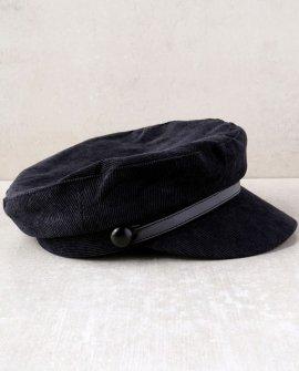 Tip Top Black Corduroy Baker Boy Cap