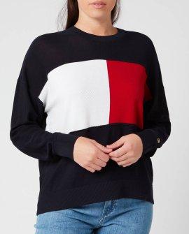 Tommy Hilfiger Women's Icon Flag Crew Neck Sweatshirt