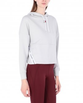 Tommy Sport Cropped Tape Fleece Hooded sweatshirt