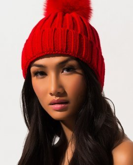 Top Knot Knit Beanie