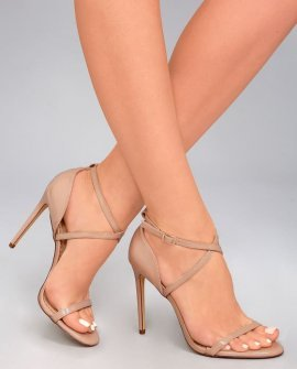 Trixy Nude Patent High Heel Sandals