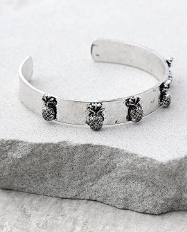Tropical Treasures Silver Cuff Bracelet