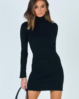 Uprising Sweater Black Dress