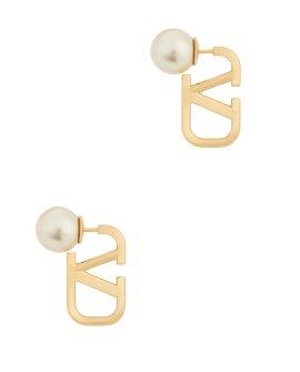 Valentino Garavani VLogo gold-tone earrings