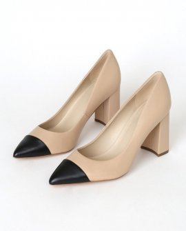Velda Natural Leather Pointed-Toe Pumps