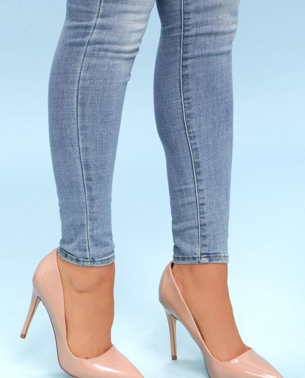 Nude Patent Pointed Pumps Online