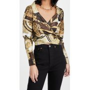 Versace Barocco Patchwork Silk Blouse