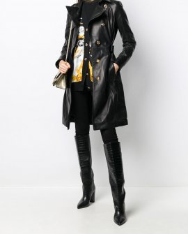Versace Medusa belted trench coat