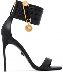 Versace Safety Pin square toe sandals