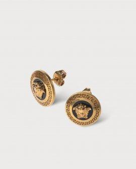 Versace Small Enamel Medusa Earrings