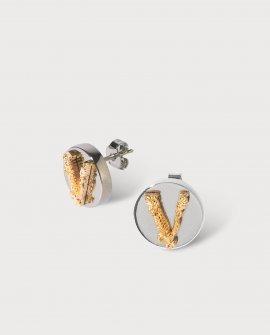 Versace Virtus Stud Earrings