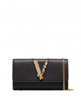 Versace Virtus crystal embellished clutch bag