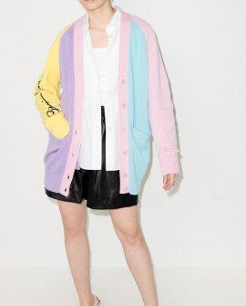 Versace colour-block V-neck cardigan