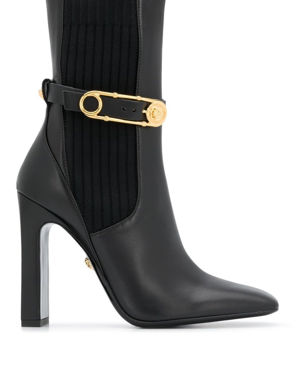 Versace square toe high-heeled boots