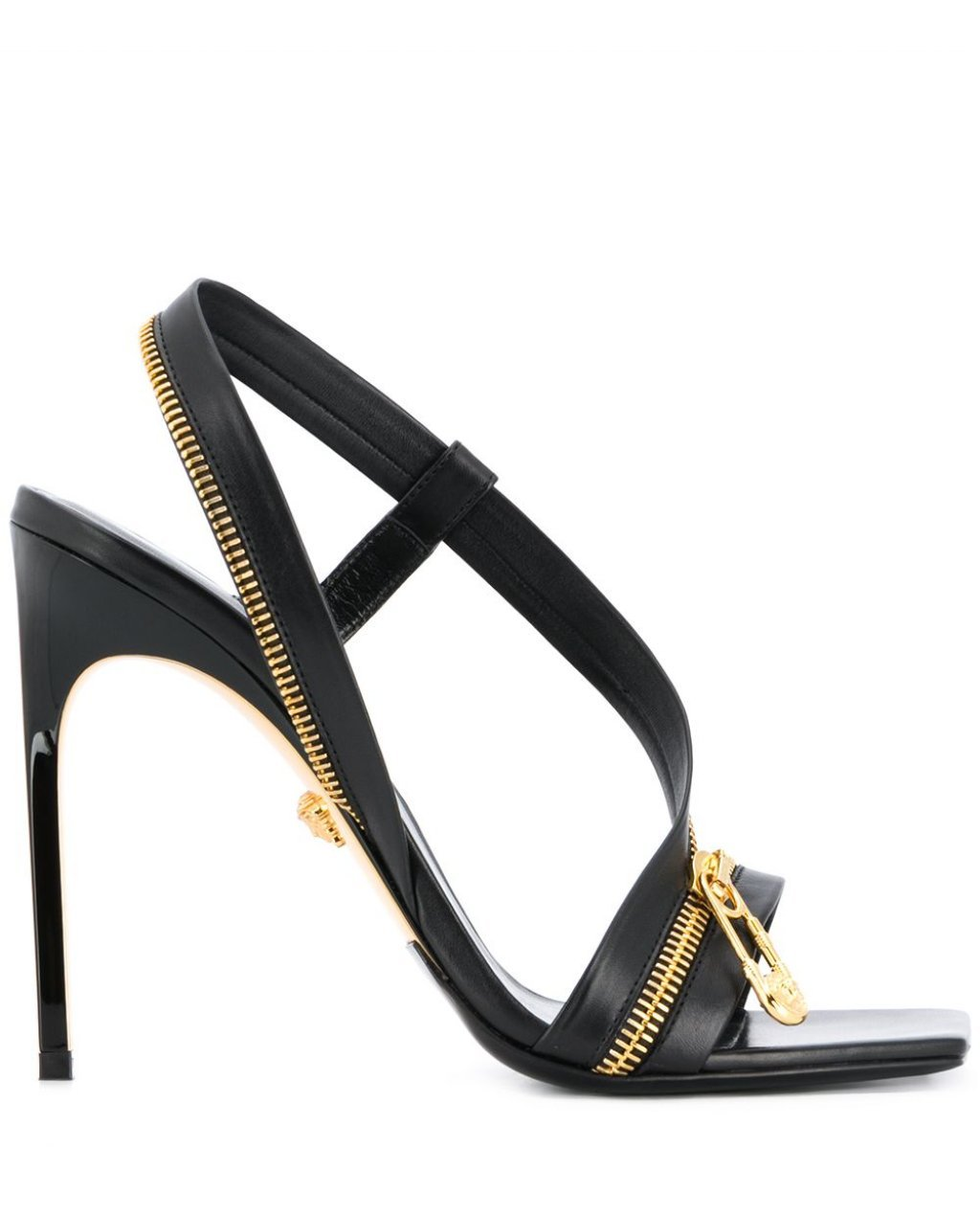 Versace zip-detail leather sandals