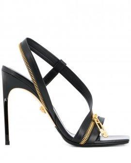 Versace zip-detail leather sandals