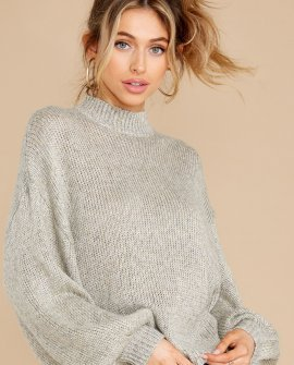 Warmest Nights Heather Grey Sweater