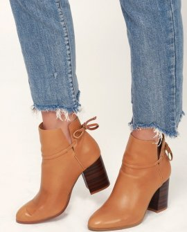 Welsey Sienna Leather Ankle Booties