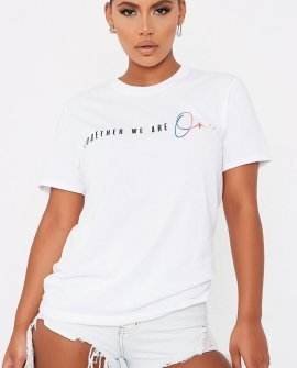 "White Nhs Charity ""Together We Are One"" Oversized Tshirt"